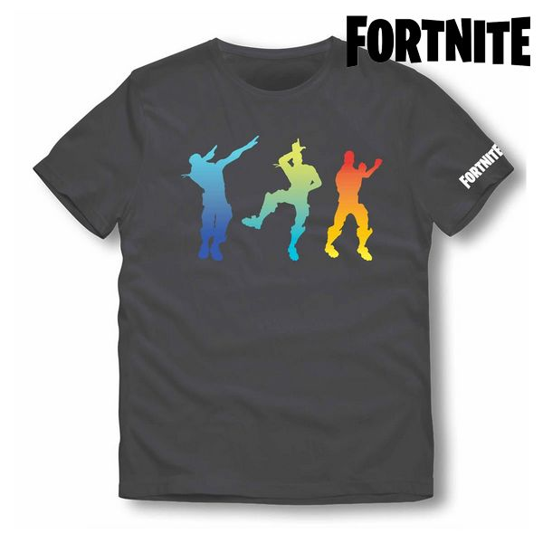 Children's Short Sleeve T-Shirt Fortnite 75056 Black