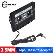 Vehemo 3.5MM Jack Music Adapter Tape Cassette Adapter Car Audio CD MD for Audio Converter Converter Classic MP3 Audio Adapter(China)