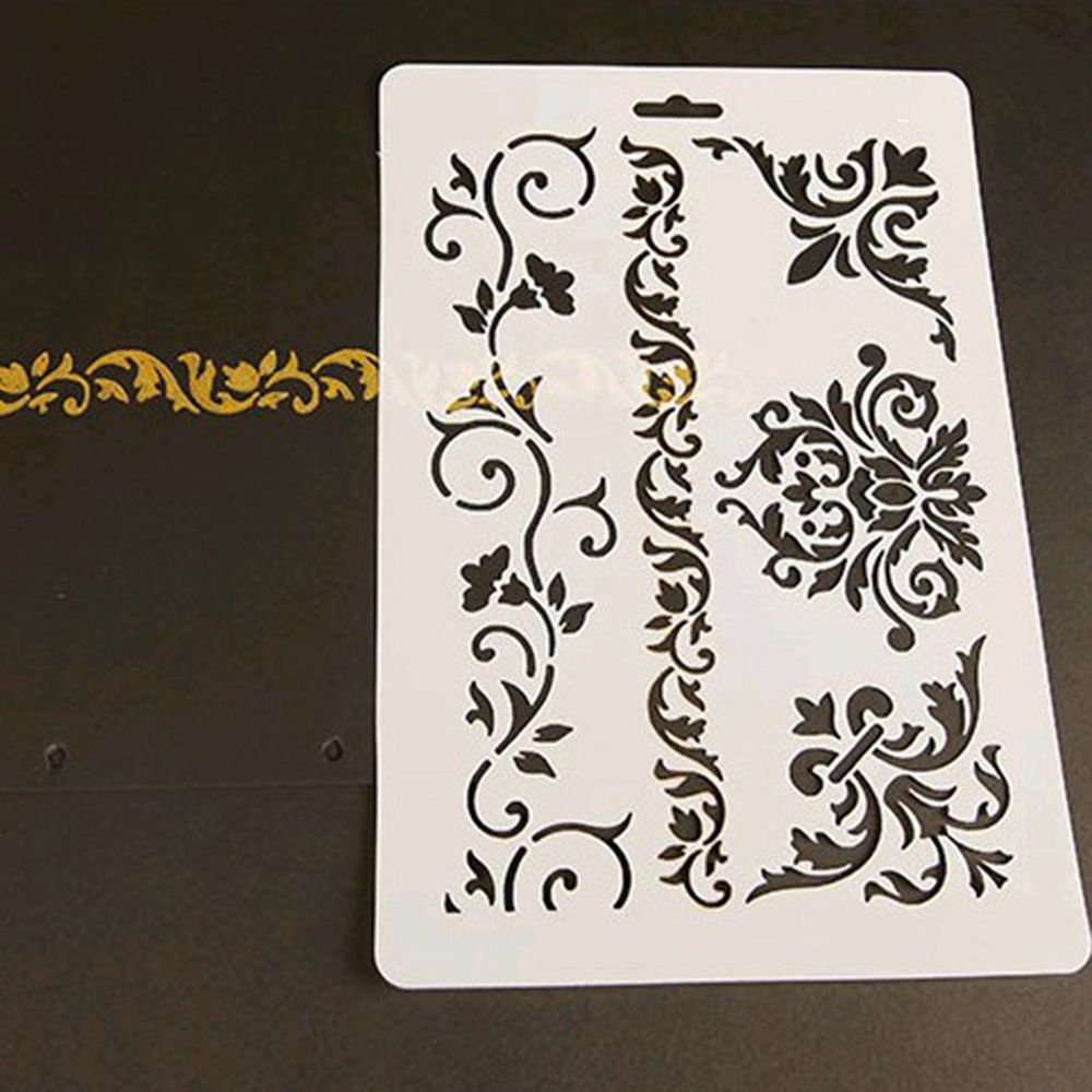 1Pcs New Vine Flower Layering Stencils Walls Painting Scrapbook Embossing Paper Album Kids Drawing Painting Templates