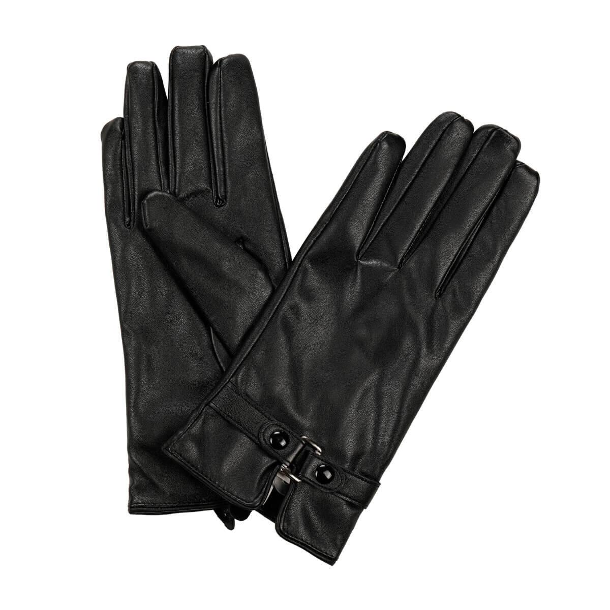 FLO BURGUNDY GLOVES Black Women 'S Gloves Miss F