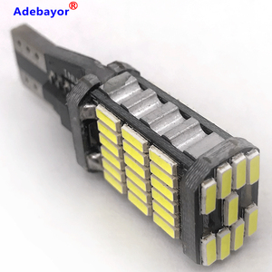 Image 4 - Canbus, 100 pièces, lampe de stop supplémentaire T15 t10 45 SMD 4014 LED, lumière de marche arrière pour voiture, lumière blanche de jour, 12V 24V, pièces