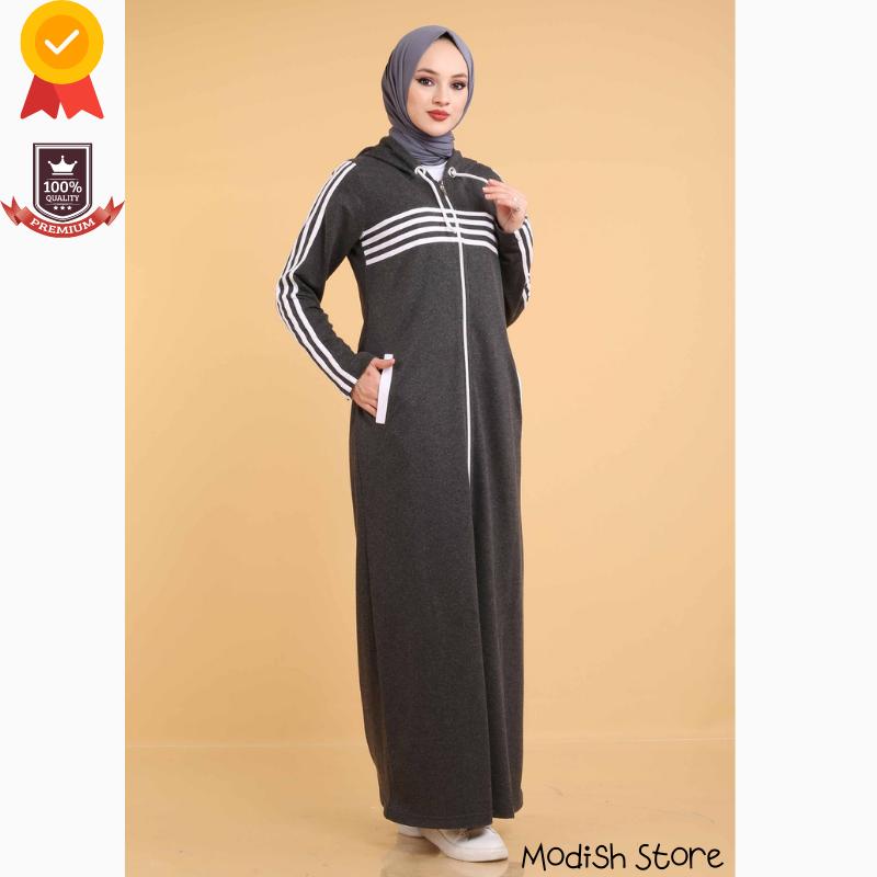 Tracksuit Double Sport Muslim Sets 2021 Turkish Women's Clothing Winter Autumn Arabic Dubai Black Abayas Kaftan Ramadan Moroccan