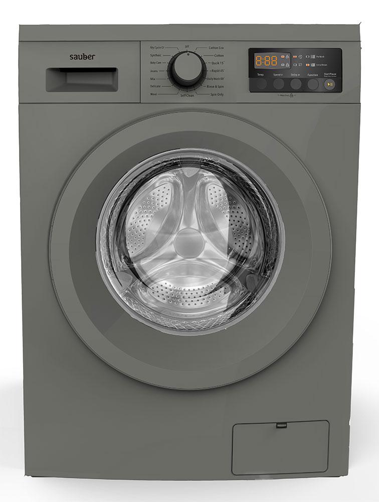Washing Machine Front Load Sauber Wm714 Inox 7 Kg 1400 Rpm A + + + Inox