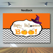 NeoBack Halloween Theme Baby Shower Backdrop Pumpkin Magic Photography Background Party Banner Backdrops