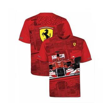 T-shirt man Ferrari Fernando Alonso helmet network size XXL
