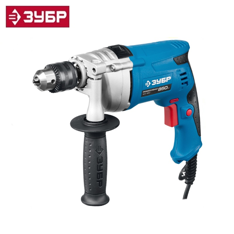 купить Hammer drill Zubr Professional ZDU-850 ERMKM2 , Reverse, met. gear housing, the cartridge 13 mm, reverse, 0-2800 rev / min недорого