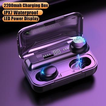 TWS Bluetooth 5.0 słuchawki 2200mAh etui z funkcją ładowania słuchawki bezprzewodowe 9D Stereo sport wodoodporne słuchawki douszne słuchawki z mikrofonem