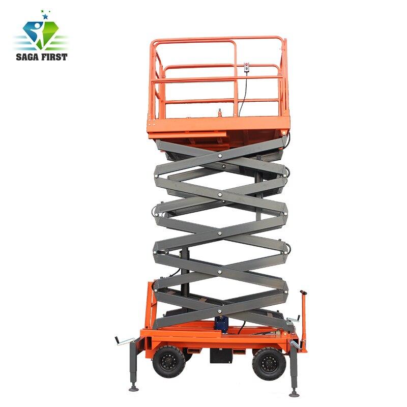 500kg 10m Hydraulic Mobile Scissor Lifting Platform
