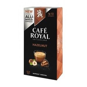 Hazelnut, coffee Royal 10 compatible Nespresso aluminum capsules