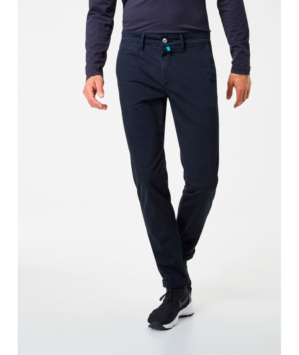 Trousers CHINESE PIERRE CARDIN NAVY Long Pants For Men's Dressy Bodysuit Dark Color Blue Menswear 2020