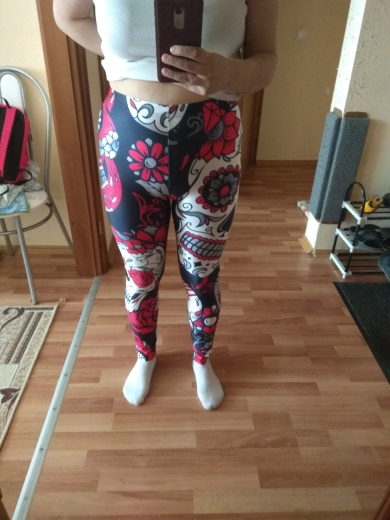 Qickitout Leggings Hot Sell Women's Skull&flower Black Leggings Digital Print Pants Trousers Stretch Pants Plus Size|leggings hot|black leggingsleggings plus - AliExpress
