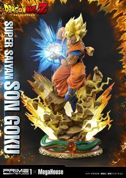 Original Dragon Ball Z Statue Super saiyan Figure Son Goku 64 cm Prime 1 Studio Pre Order