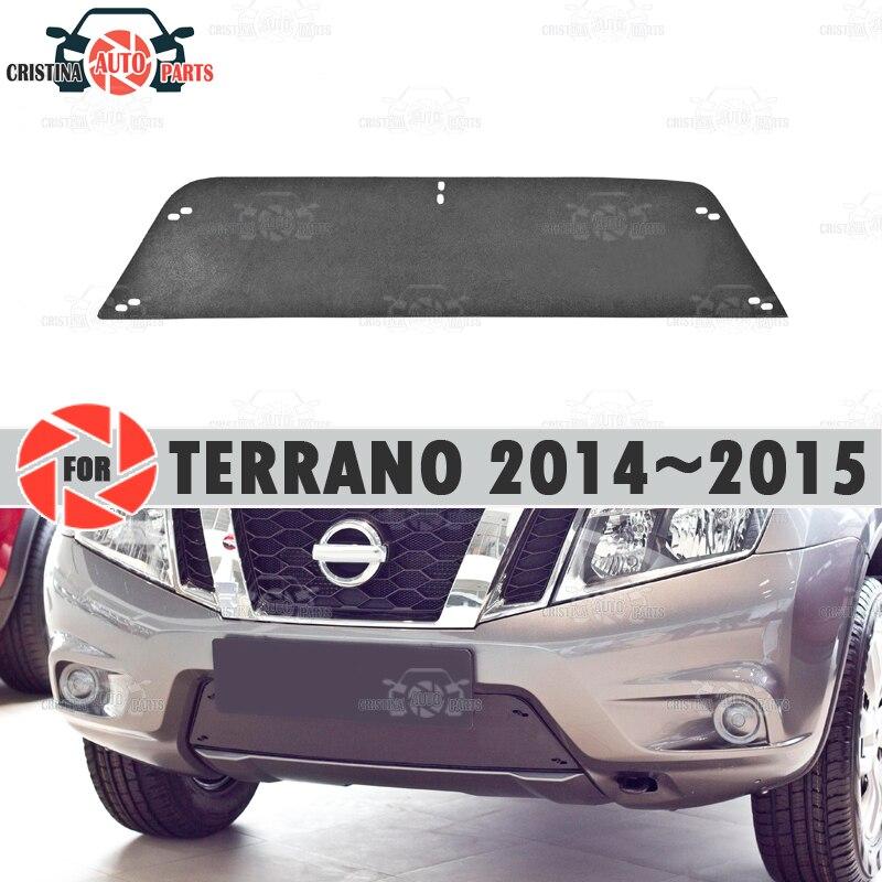 Zimowy korek chłodnicy dla Nissan Terrano 2014 ~ 2015 plastikowa obudowa z wytłoczonym ABS zderzak przedni akcesoria samochodowe do stylizacji decor