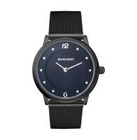 Dünne damen uhren auf der Mailänder sonnenlicht armband-in Damenuhren aus Uhren bei