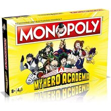 Toys Board Games Winning Moves Manga-Series Spanish-Monopoly-My-Hero Strategy Family