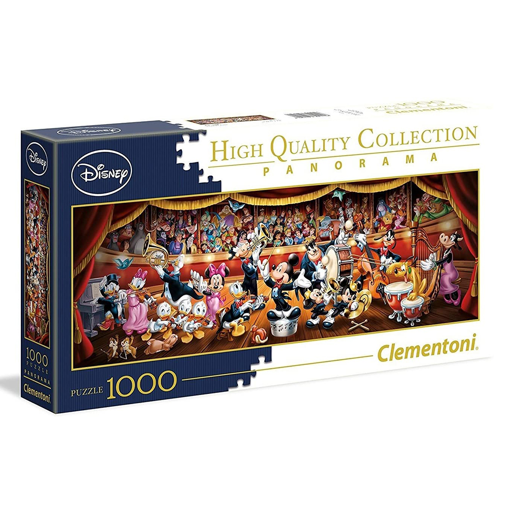 Clementoni Puzzle 1000 Pieces Puzzle Adult The Orchestra MICKEY 98x33CM