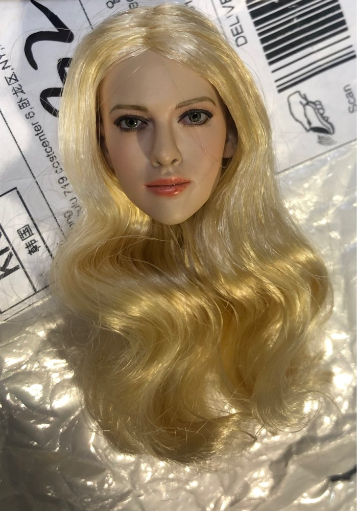 1/6 Scale Golden Hair Female Head Sculpt