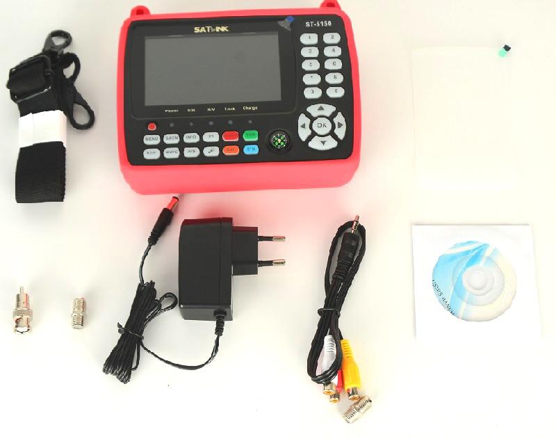 cheapest Satlink ST-5150 DVB-S2 DVB-T T2 DVB-C Combo Better Satlink 6980 Digital Satellite Meter Finder h 265 satlink ws-6933 kpt-716ts