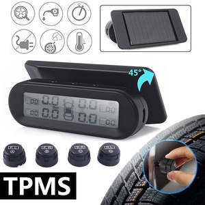Vehemo Pressure-Monitoring-System-Gauge Tire-Type Car-Tpms 4-External-Sensor Security-Alarm-Systems