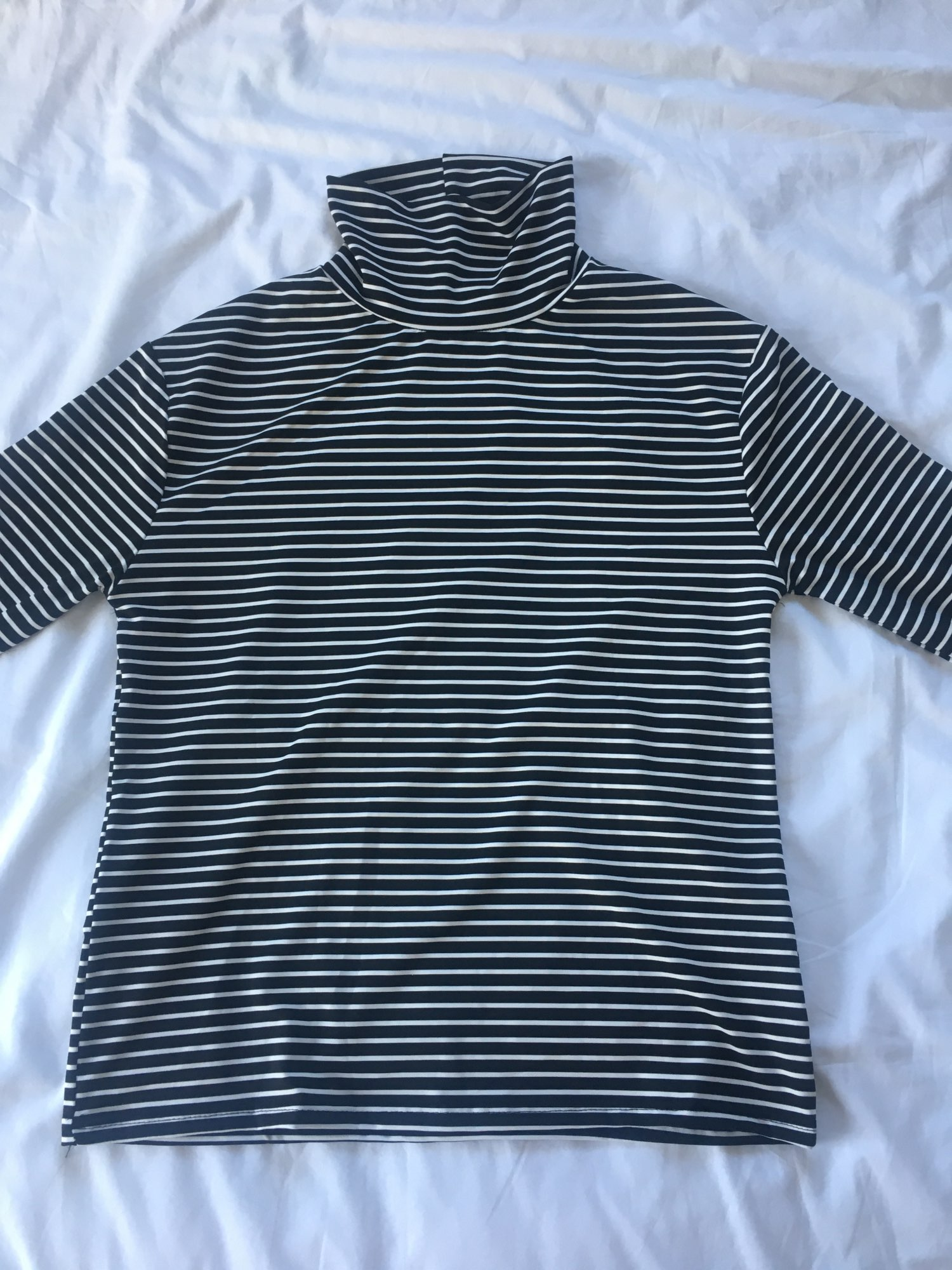 E-girl Harajuku Striped Turtleneck T-shirts photo review