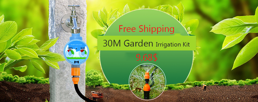 U63af3a52b7184401868505479e16c401V 30m Automatic Micro Drip Irrigation System Garden Irrigation Spray Self Watering Kits with Adjustable Dripper