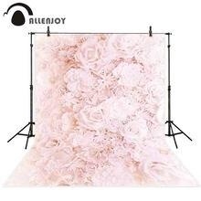 Allenjoy photography photo studio flower backdrop wedding photocall pink rose wallpaper baby background photophone photozone