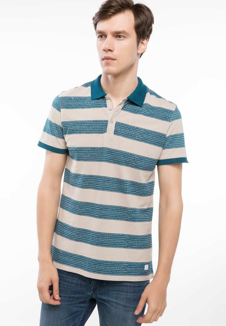 DeFacto Man Autumn Summer Striped Cotton Polo Shirts Men Casual Short Sleeve Top Shirts Male Polo Shirt-J0886AZ18AU