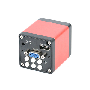 Image 2 - 7X 45X سيمول البؤري ثلاثي العينيات ستيريو مجهر تكبير 1080P 720P HDMI VGA كاميرا رقمية إلكترونية 56 مصباح ليد بساط عازل
