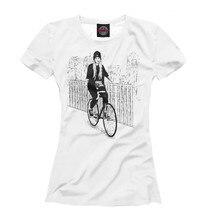 Girls's T-shirt bike woman