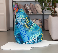 Lima-pouf chair bag Delicatex Turquoise