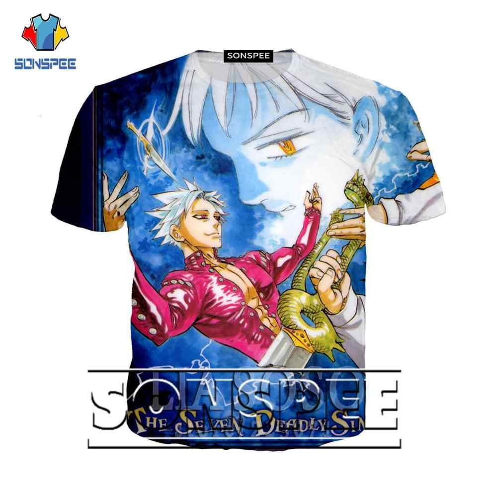 NEW Anime Nanatsu No Taizai The Seven Deadly Sins 3D Print T shirt men women t-shirt hip-hop casual h1