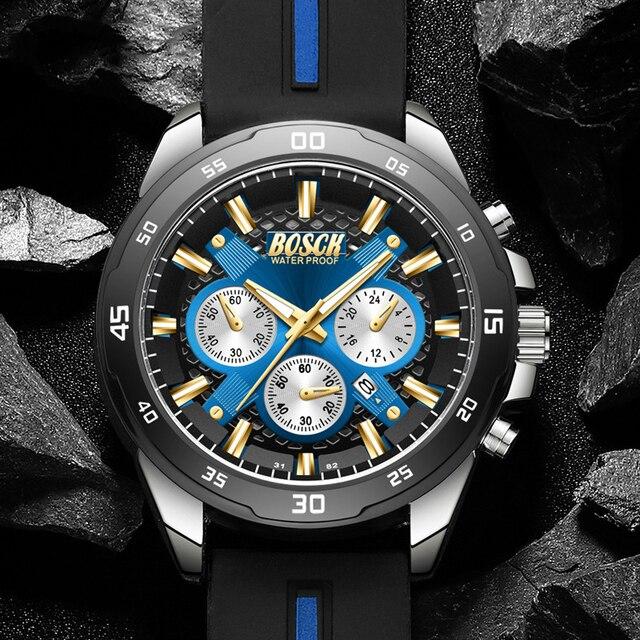 Купить мужские роскошные водонепроницаемые кварцевые часы bosck 30 картинки цена