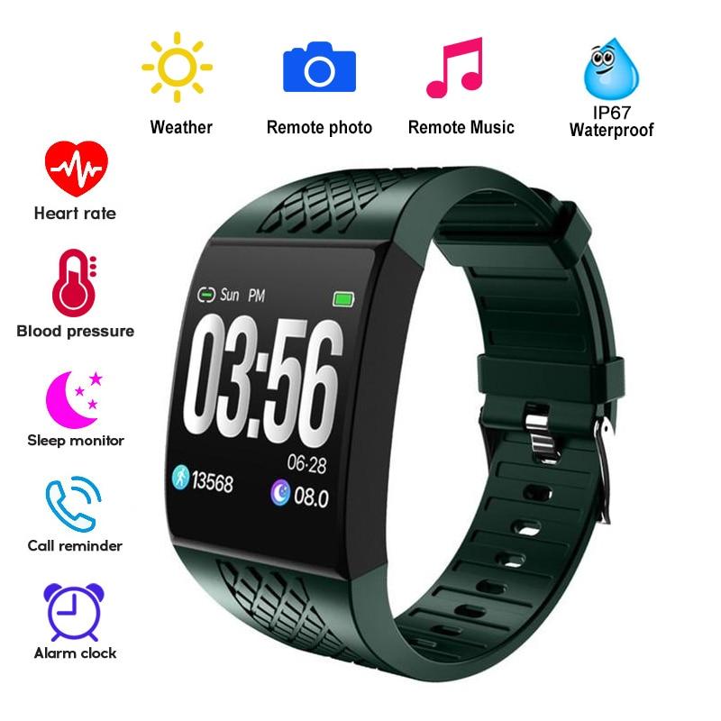 Large Curved Screen Smart Wristbands Fitness Bracelet Tracker Remote Control Camera Music Smart Band Watch Ergonomic Design New