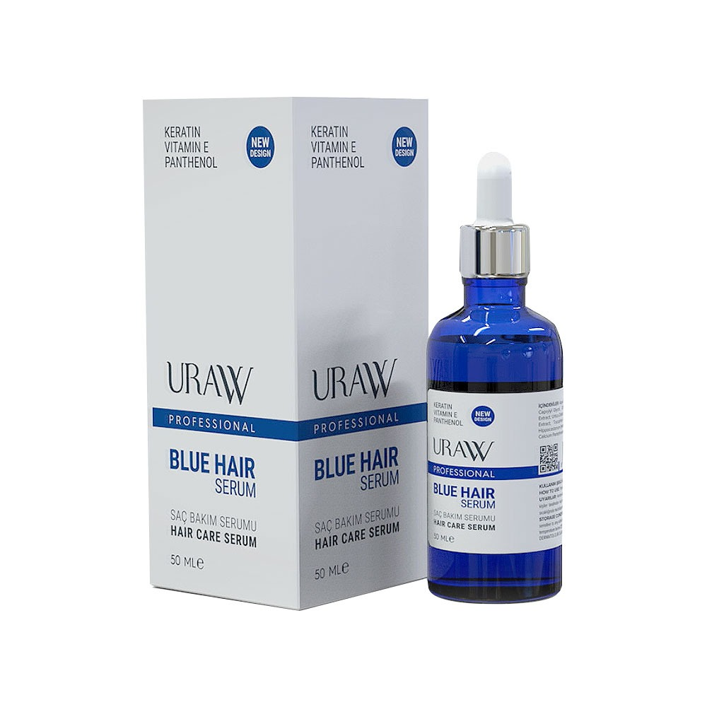 URAW BLUE HAIR SERUM (BLUE SERUM) Strengthens Hair Repair, Hair Growth Slows Hair Loss Slow Hair Growth Support
