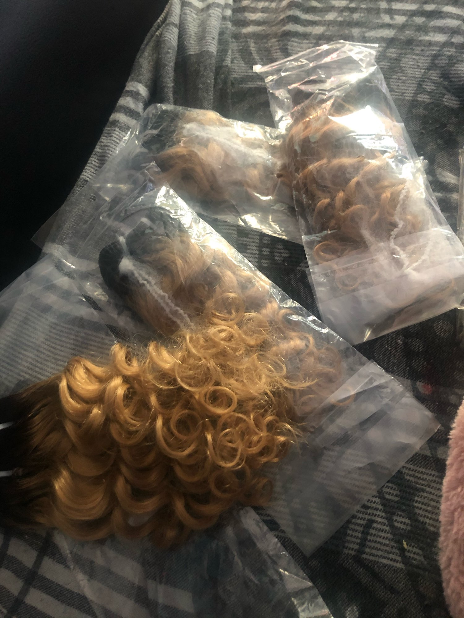 BHF Brazilian Hair Deep Wave Curly 100% Natural Human Hair Bundles 50g Remy Funmi weft Can Make a Wig photo review