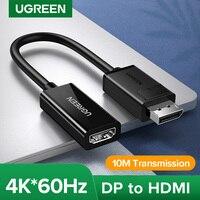 UGREEN Displayport DP a HDMI Adapter 4K Display Port Cable Converter 1080P per PC Laptop proiettore Displayport a HDMI Adapter