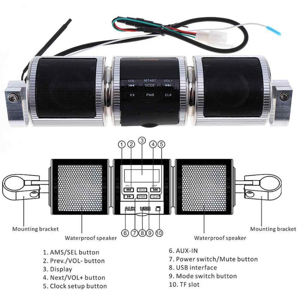 Bluetooth Motorcycle Stereo Speaker Motorbike