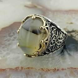 925 sterling Silber Jemen Akiği Männlichen Ring