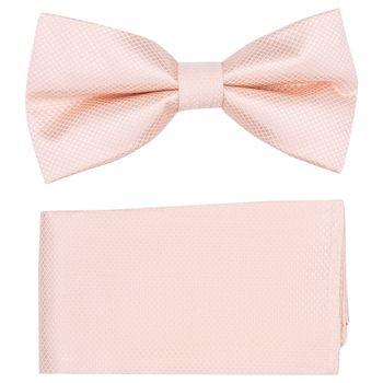 Men's bow tie, pocket square (microfiber, Peach) 53725