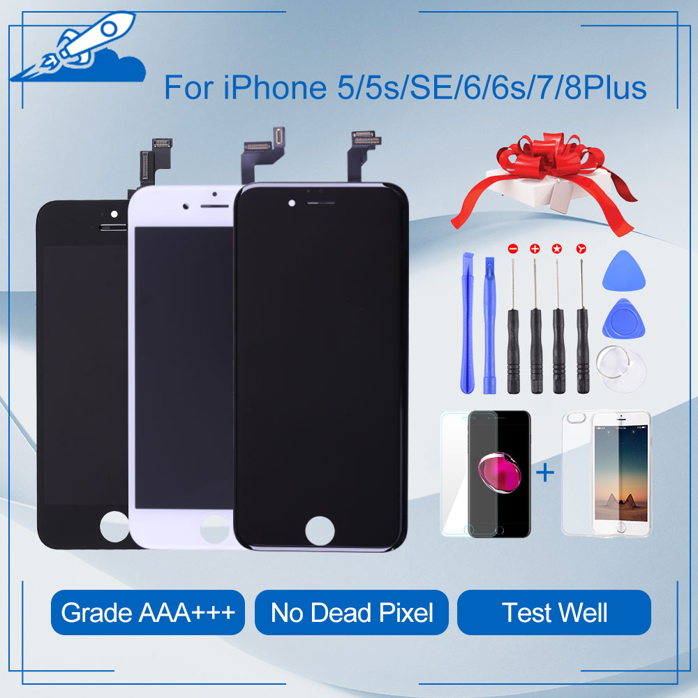 Elekworld Grade For iPhone 6 6S Plus LCD Touch Digitizer Screen Assembly Replacement For iphone 5S Display Screens(China)