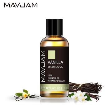 цена на 30ml Vanilla Aroma Oil Diffuser Pure Natural Essential Oils Jasmine Eucalyptus Lemongrass Basil Geranium Tea Tree Essential Oil