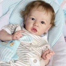 Rbg reborn bebê boneca 28 polegadas realista bonito liam vinil unpainted inacabado peça diy kit em branco surpresa presente brinquedos para a menina