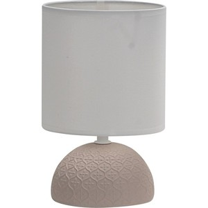 Royal Alex Ceramic Lampshade, E14 Cap, On/off Button 1,5m Wired, Beige Body, white Hat