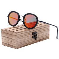 Ronde vintage - Noyer - Orange - Coffret en bois