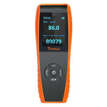 Temtop LKC-1000S Professional Formaldehyde Monitor Temperature and Humidity Detector with PM2.5/PM10/HCHO/AQI/Particles pm2 5 pm10 pm1 0 tvoc hcho tester aqi air quality analysis detector temperature humidity monitor smog meter w alarm clock