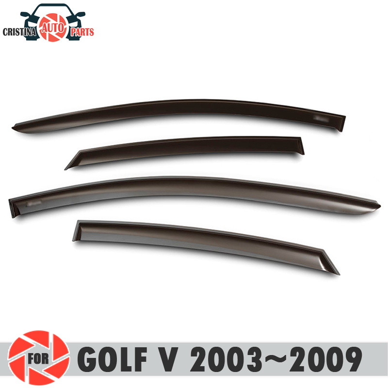 Déflecteur de fenêtre pour Volkswagen Golf V 2003 ~ 2009 déflecteur de pluie protection contre la saleté accessoires de décoration de voiture moulage