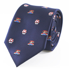 Necktie Theme-Tie Mushroom Mario Father's-Day And Microfiber Jacquard-Game