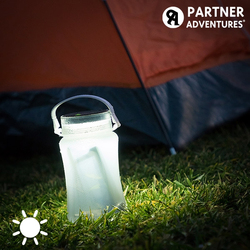 Partner Adventures Silicone Solar LED Bottle
