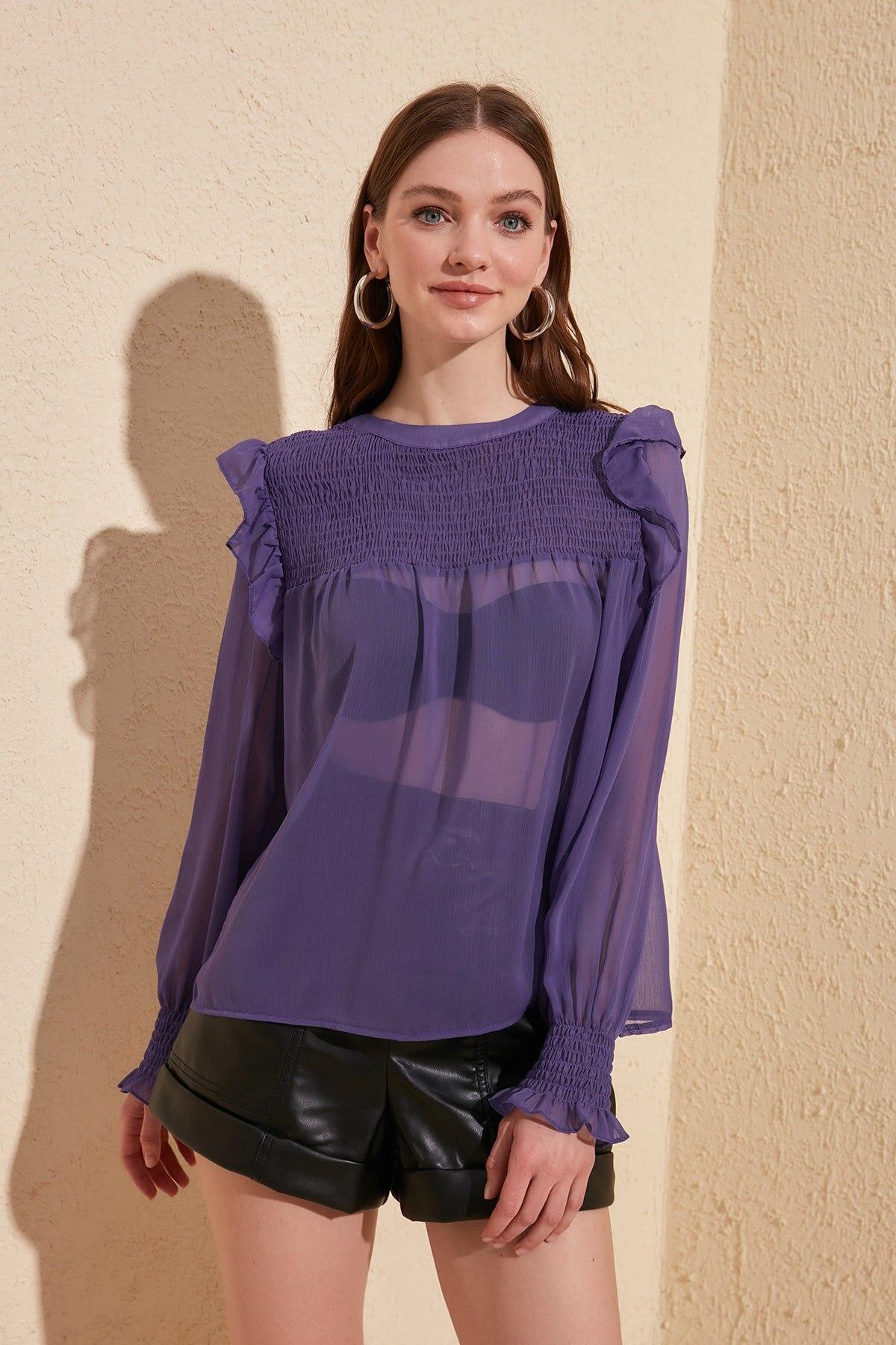 Trendyol Gipeli Bluz TWOSS20BZ0545