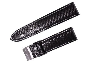 Watch lining 22 MM carbon fiber strap black